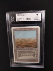 Scrubland BGS 7 NM 3rd Edition / Revised MTG Magic Graded Card